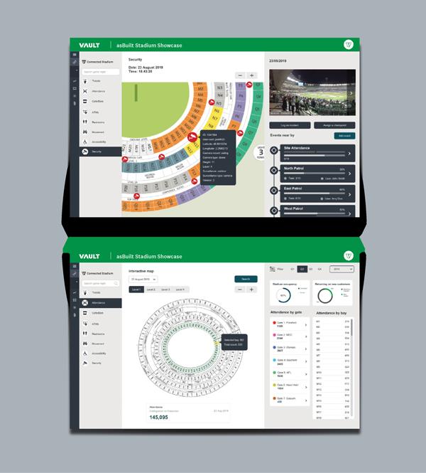 Vault Stadium Dashboard